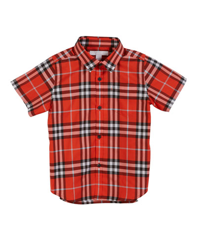 Fred Short-Sleeve Check Shirt  Size 3-14
