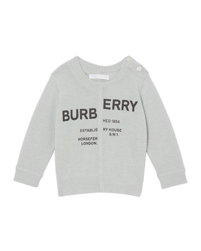 Jeremy Logo Cashmere Sweater  Size 12M-2