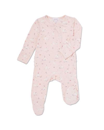 Bunnies Ruffle-Trim Footie Pajamas, Size 0-9 Months