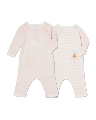 Bunny Intarsia Coverall, Size 0-12 Months