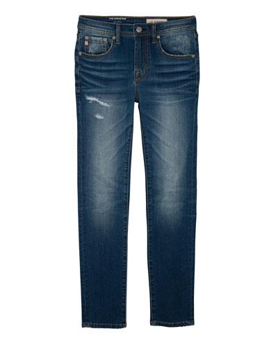 Boys' Kingston Skinny Slim Distressed Denim Jeans  Size 8-14