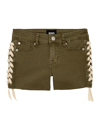 Girls' Bailey Shorts w/ Lace-Up Sides  Size 7-16