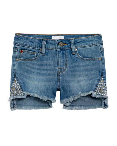 Girls' Leah Studded Denim Shorts  Size 7-16