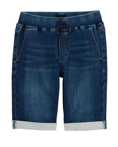 Boys' Taj Drawstring Denim Shorts  Size S-XL