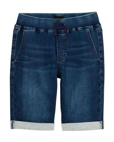 Boys' Taj Drawstring Denim Shorts  Size 4-7