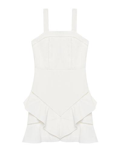 Esta Frill Trim Sleeveless Dress  Size 8-16