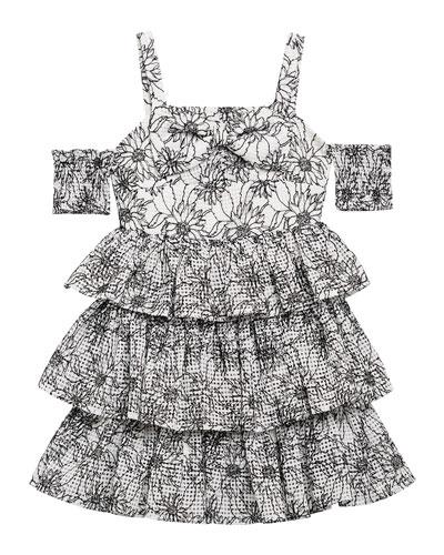 Ellis Floral Cold-Shoulder Dress  Size 8-16