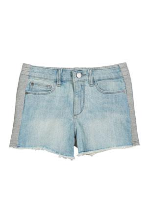 DL1961 Premium Denim Lucy Denim & Heathered Jersey Shorts, Size S-L
