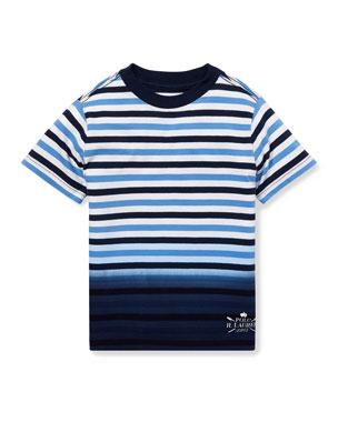 906c7cd91 Ralph Lauren Childrenswear Jersey Striped Ombre Top, Size 5-7