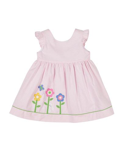 Hop To It Stripe Seersucker Dress  Size 2-4