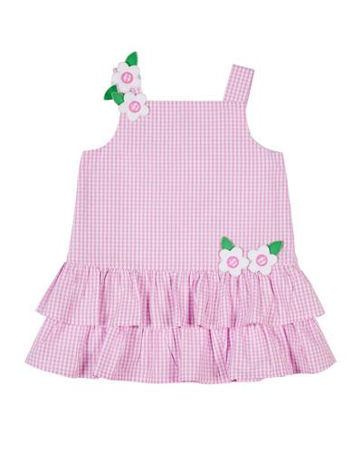 Gingham Seersucker Ruffle Dress  Size 2-4