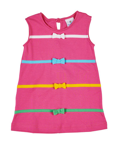 Bands & Bows Sleeveless Dress  Size 2-6X