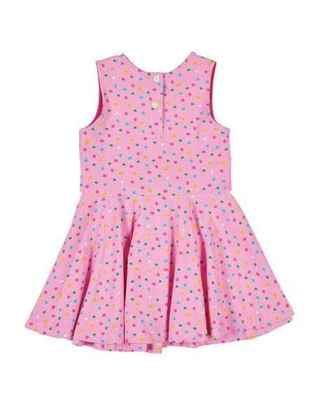 Florence Eiseman Multi Dot Dress w/ Tie Front, Size 2-6X