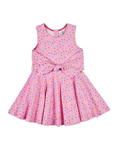 Multi Dot Dress w/ Tie Front  Size 2-6X
