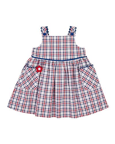 Plaid Rick Rack Dress  Size 2-6X