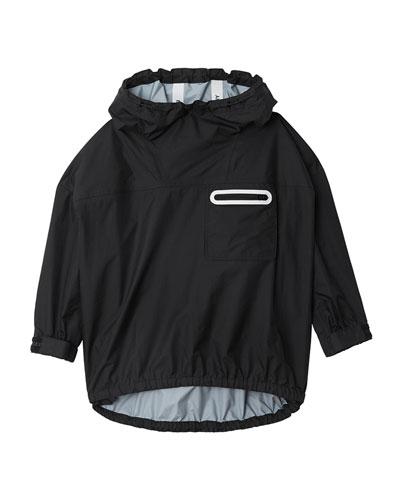 Malachi Hooded Pullover Logo Jacket  Size 8-14