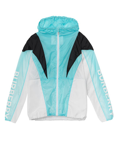 Tami Pieced Colorblock Wind Jacket  Size 10-14