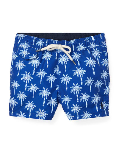 Palm Tree Printed Swim Trunks  Size 12-24 Months