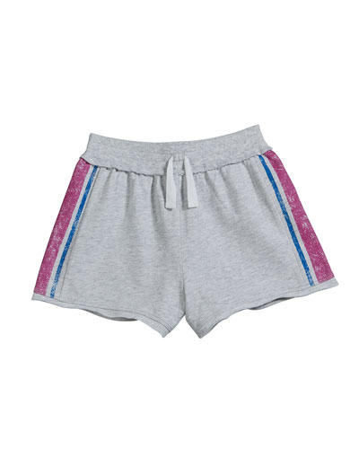French Terry Side Stripe Shorts  Size 7-14