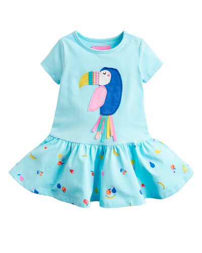 Katy Toucan Applique Fruit-Print Skirt  Size 6-24 Months