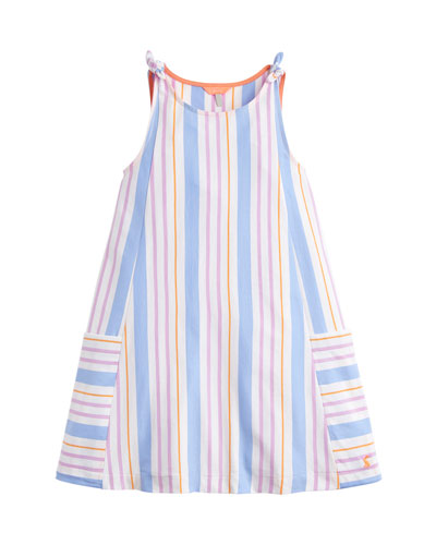 Madeline Multi-Stripe Sleeveless Dress  Size 3-10