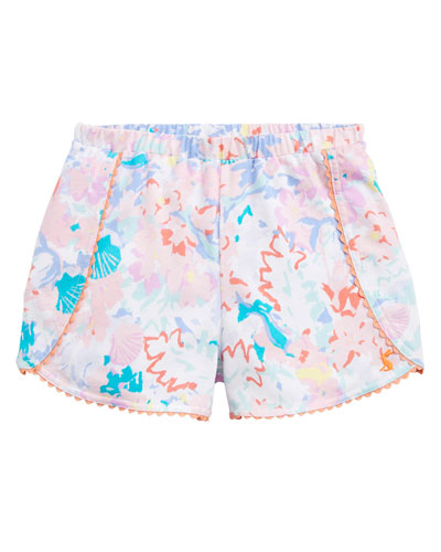 Suzette Seashell Print Shorts w/ Rick Rack Trim  Size 2-6