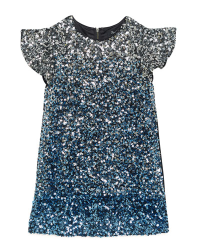 Selma Ombre Sequin Dress, Size 8-16