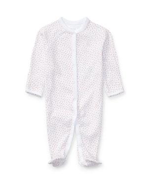 ab44636d9b25 Ralph Lauren Childrenswear Floral Print Cotton Footie Pajamas