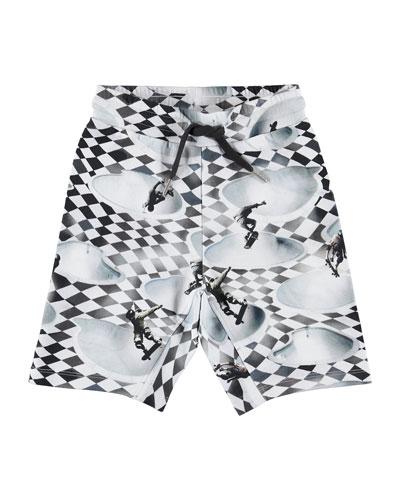 Aliases Skater Check Print Sweat Shorts  Size 4-12