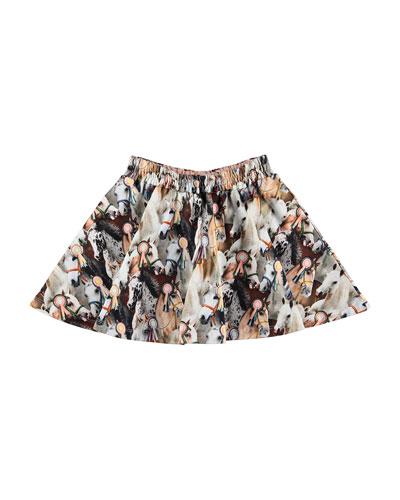 Barbera Show Horse Print Skirt  Size 2T-12
