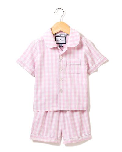 Gingham Pajama Set w/ Contrast Piping  Size 6M-14