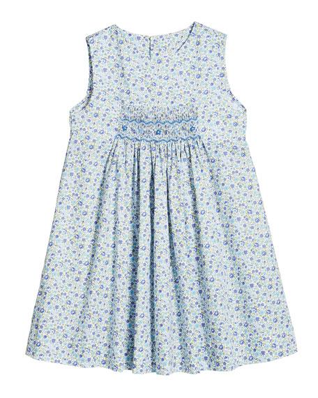 Luli & Me Sleeveless Floral-Print Dress, Size 2-4T