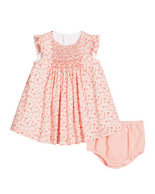 6e9d7922825 Luli   Me Ruffle-Sleeve Floral-Print Dress w  Solid Bloomers