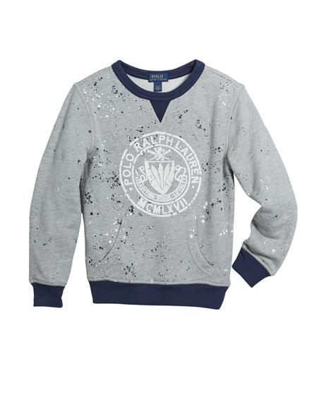 Ralph Lauren Childrenswear Paint Splatter Logo Top, Size 2-4