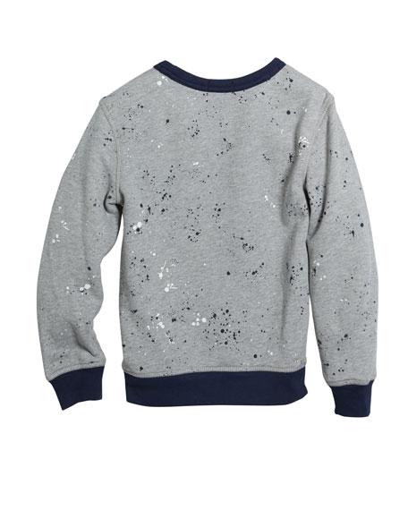 Ralph Lauren Childrenswear Paint Splatter Logo Top, Size 5-7