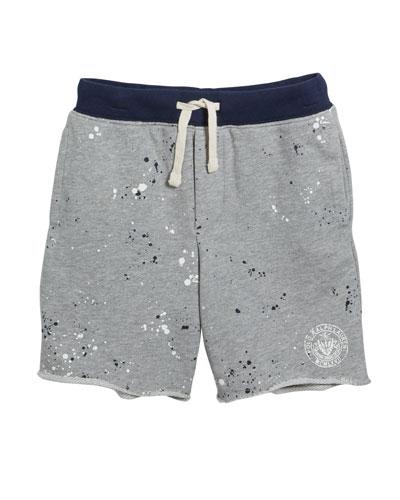 Paint Splatter Drawstring Sweat Shorts  Size 5-7
