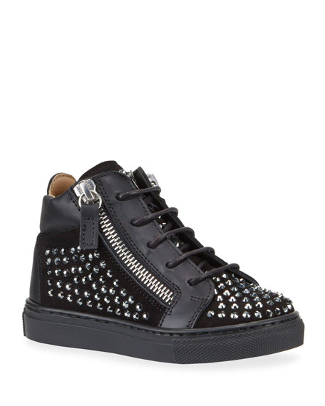 Giuseppe Zanotti Boy's Studded High-Top Sneakers, Baby/Toddler