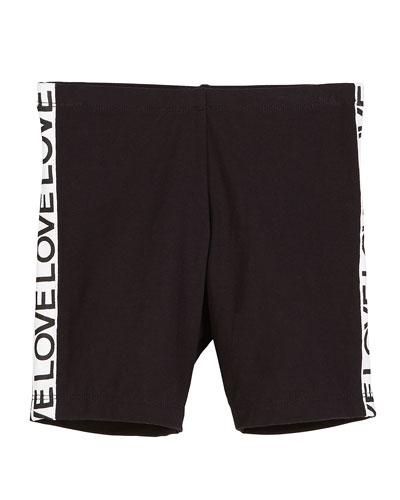 Stretch Bike Shorts w/ Love Taping  Size S-XL