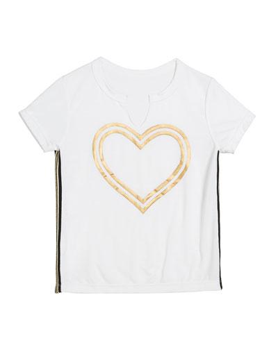 Gold Foil Heart Tee  Size S-XL