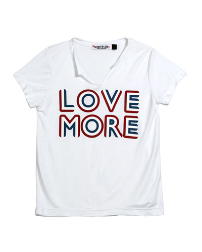 Love More V-Neck Tee  Size S-XL