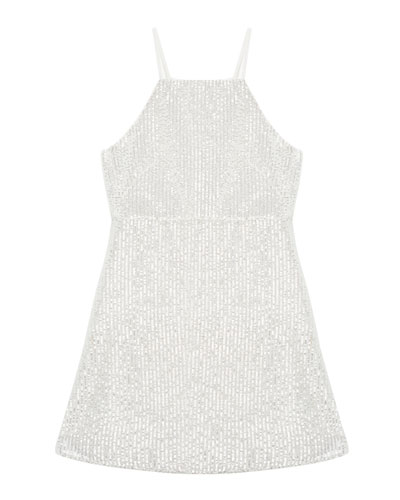 Averly Sequined Slip Dress  Size 8-16
