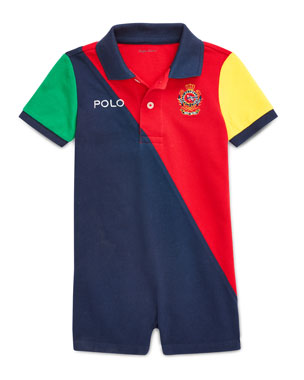 024b8eec5f6b2d Ralph Lauren Childrenswear Colorblock Logo Crest Polo Shortall