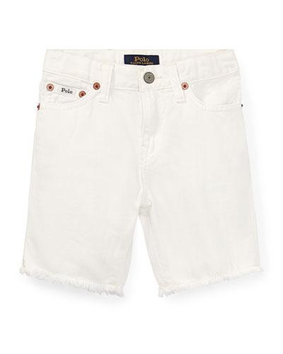 Raw Edge Denim Shorts  Size 2-4