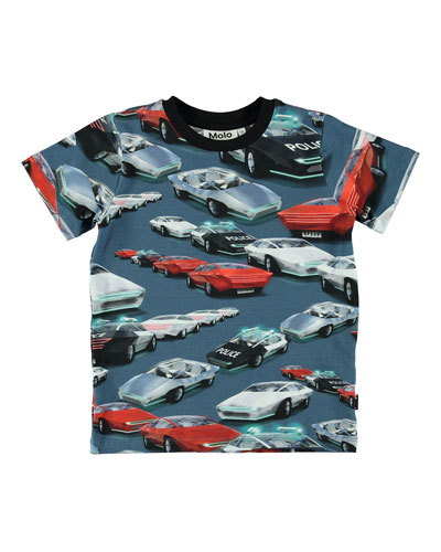 Ralphie Allover Cars Print Tee  Size 4-10