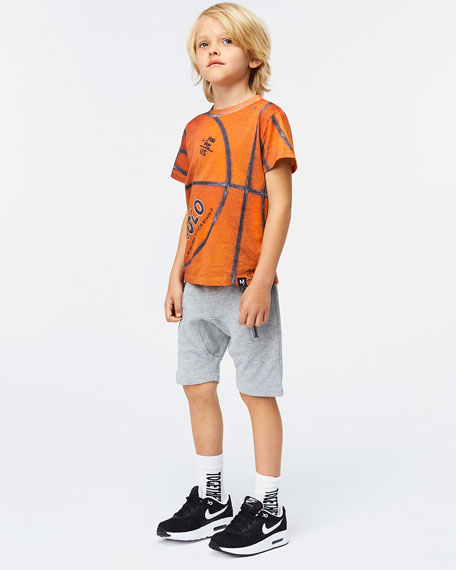Molo Road Basketball Print T-Shirt, Size 4-12