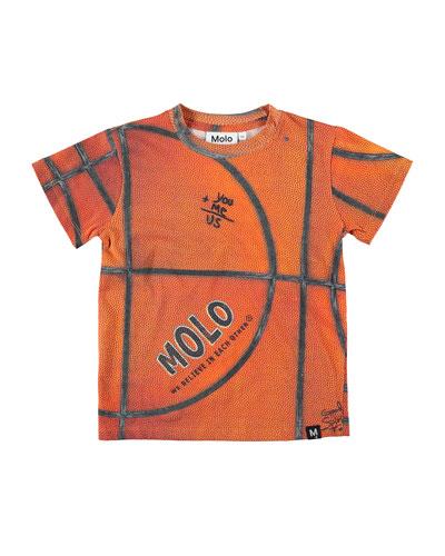 Road Basketball Print T-Shirt  Size 4-12