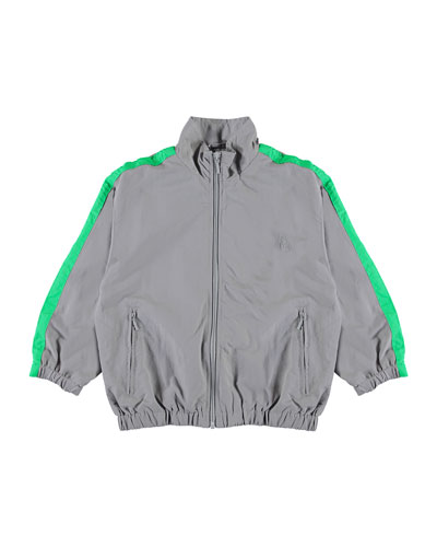 Mates Track Jacket w/ Contrast Taping, Size 4-12