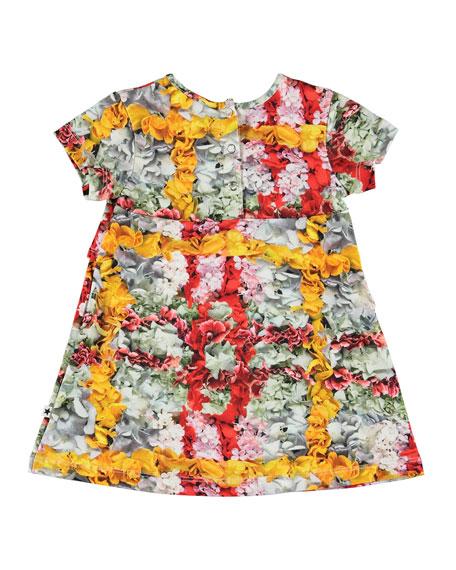 Molo Cloud Short-Sleeve Floral Print Dress, Size 6-24 Months