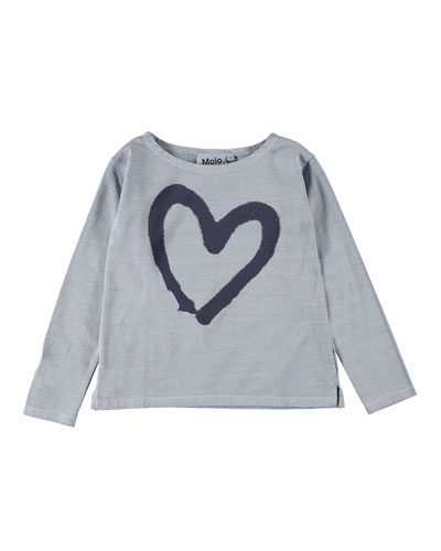 Ramilah Heart Graphic Long-Sleeve Tee  Size 4-16