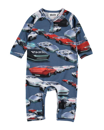 Fleming Allover Cars Print Coverall  Size Newborn-12 Months